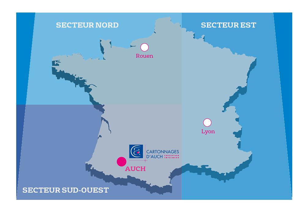 Secteurs France Cartonnages d'Auch